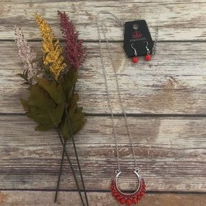 Silver & Persimmon Necklace